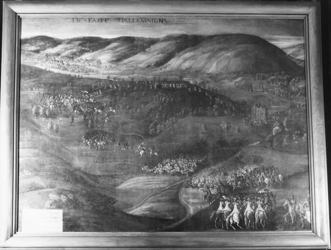 Tableau : La Desfaite d'Allemaigne , huile sur toile, 1611