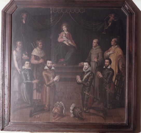 tableau : Le voeu de Louis XIII, panneau peint
