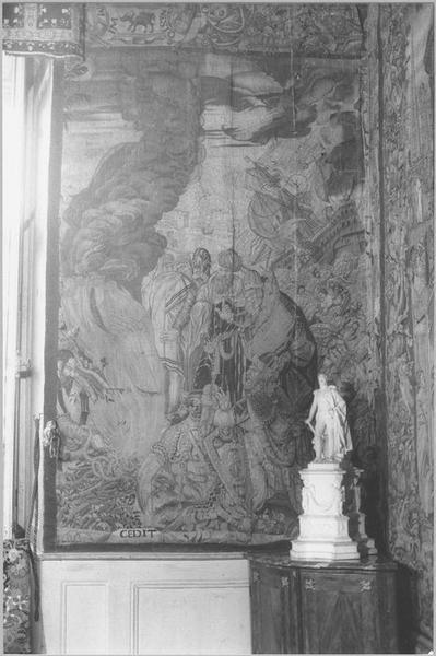 Pièce murale : histoire de saint Paul, le Naufrage, vue partielle