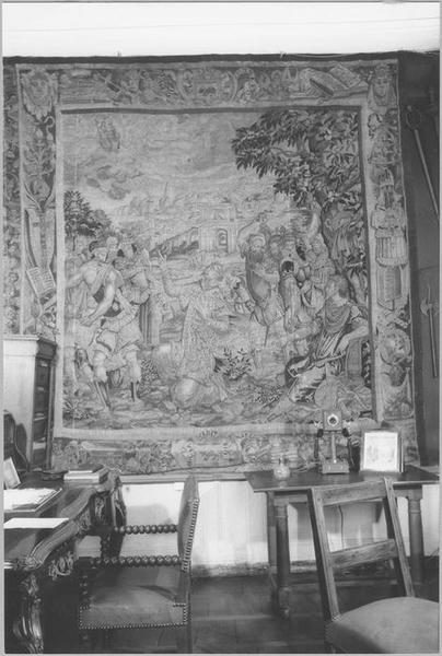 Pièce murale : histoire de saint Paul, Lapidation de saint Etienne, vue générale