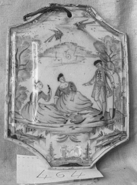 Carrelage mural (un carreau), vue générale
