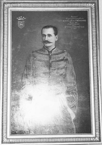 Tableau, cadre : Portrait de Bernard Eugène François Marie Albéric, Marquis de Froissard, vue générale