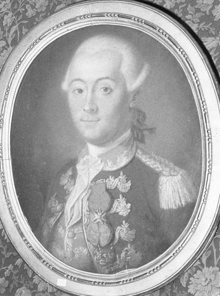 Tableau, cadre : Portrait d'un homme, vue générale