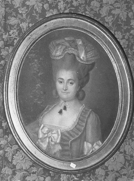 Tableau, cadre : Portrait d'un d'une femme, vue générale