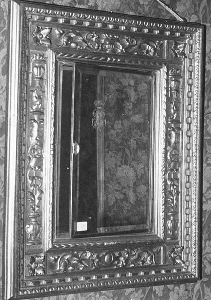 miroir d'applique (glace de mariage), cadre, vue générale