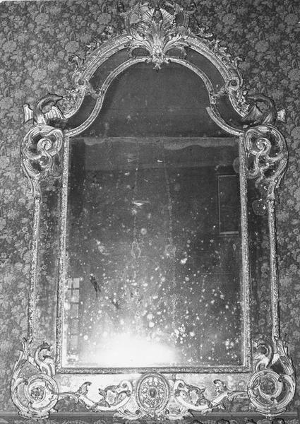 Miroir d'appilque, cadre, vue générale