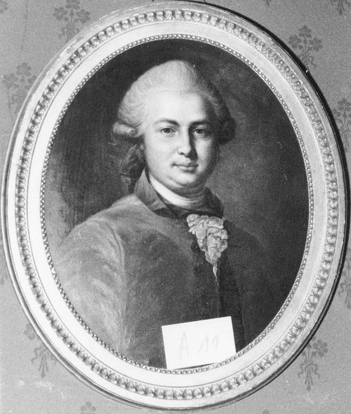 Tableau, cadre : Portrait d'homme, vue générale