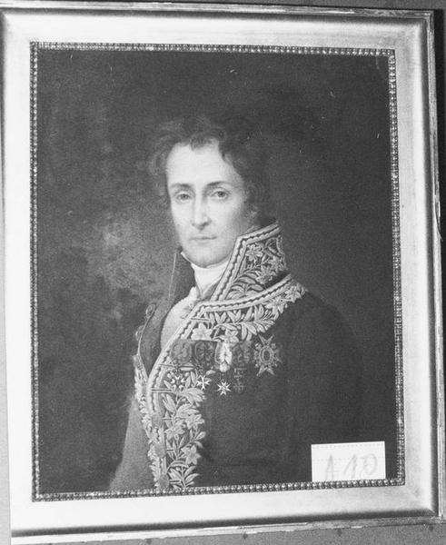 Tableau, cadre : Alban de Villeneuve-Bargemont, vue générale