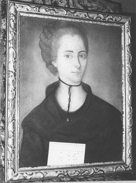 tableau, cadre : Portrait de femme, vue générale
