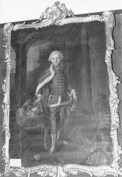 Tableau, cadre : Gabriel Philibert de Mercey, vue générale