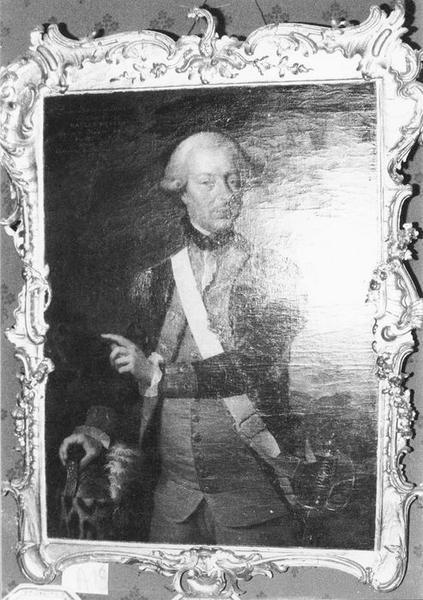 Tableau, cadre : Jean-François Bruno, Baron de Raclet Mercey, vue générale