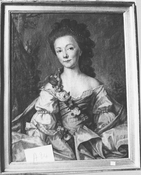 tableau, cadre : Jeune femme à la rose, vue générale