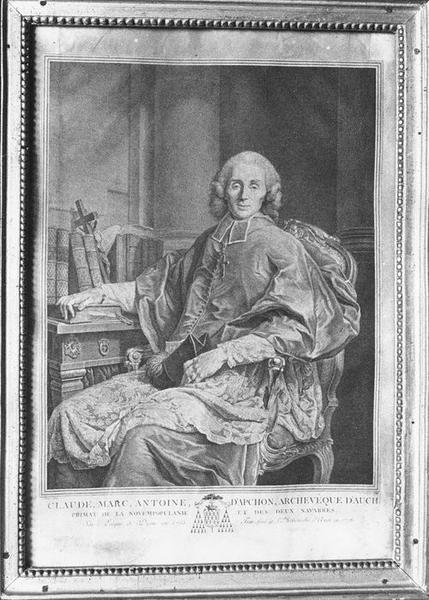 Estampe, cadre : Claude Marc Antoine d'Apchon, vue générale
