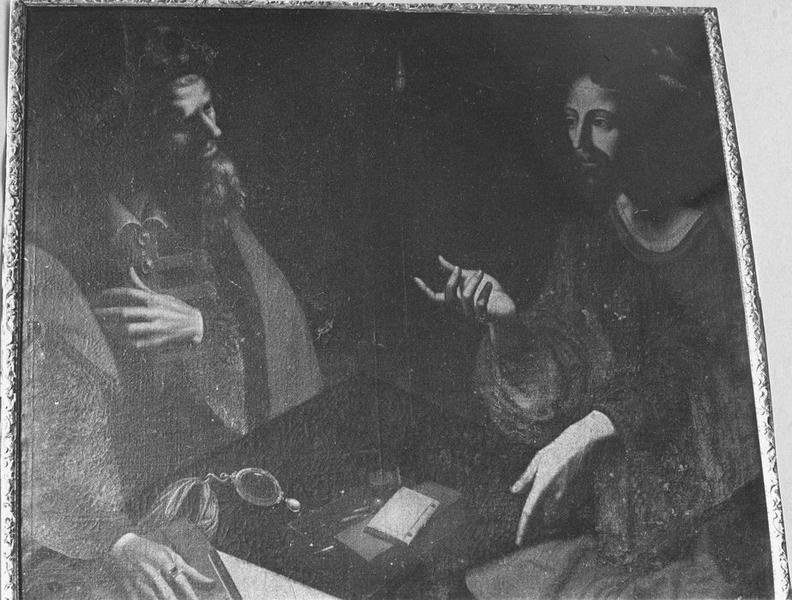 Tableau, cadre : Le Christ et Nicodème, vue générale