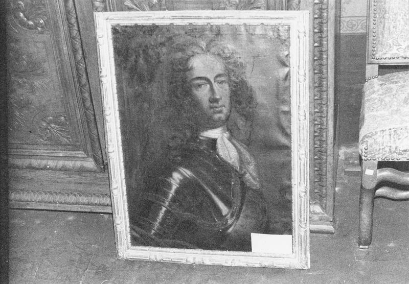Tableau, cadre : Portrait d'homme en cuirasse, vue générale