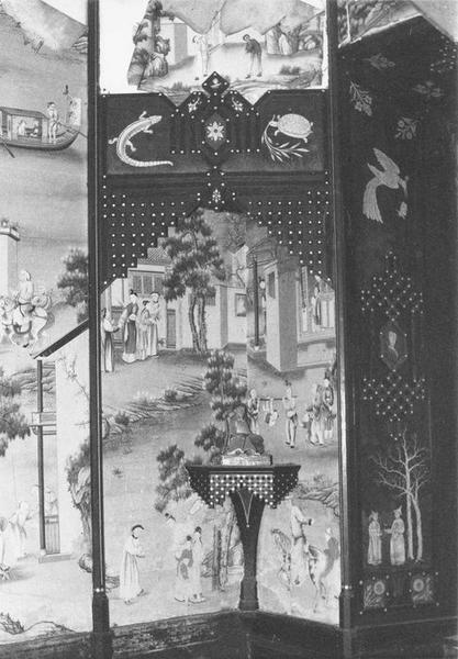 Garniture architecturale (papier peint), détail