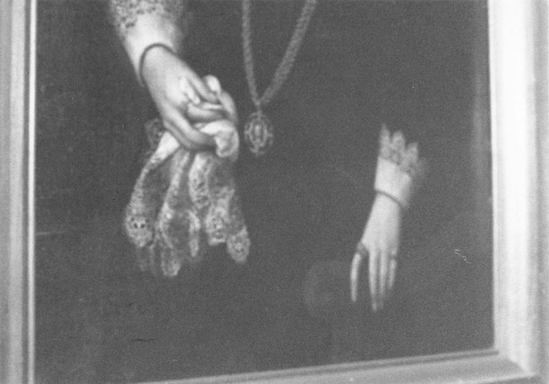 Tableau : Anne d'Orsans, baronne d'Oiselet, détail