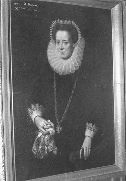 tableau : Anne d'Orsans, baronne d'Oiselet, vue générale