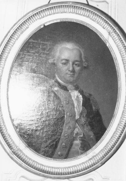 tableau, cadre : Louis François de Gallifet, vue générale