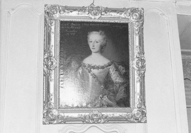 Tableau, cadre : Louise Antoinette de Broissia-Froissard, vue générale