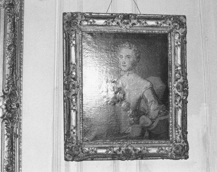 Tableau, cadre : C. de Froissard Mercey, vue générale