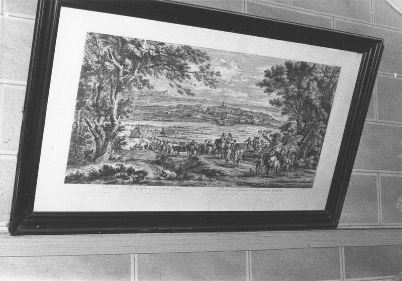 Estampe : Vue de la ville de Gray, vue générale