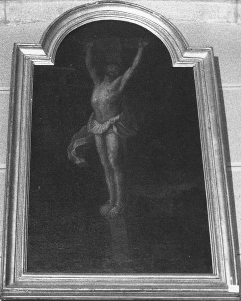 Tableau, cadre : Le Christ en croix, vue générale