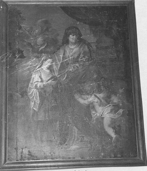 Tableau : L'Education de la Vierge, vue générale