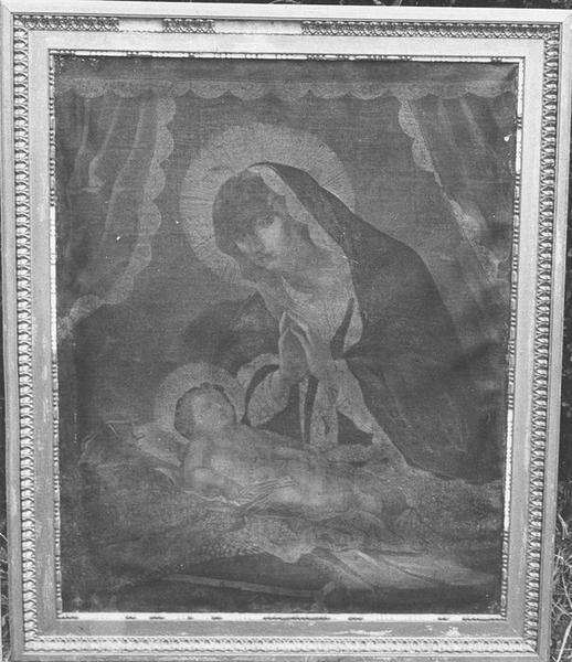 Tableau : La Vierge adorant l'Enfant, vue générale