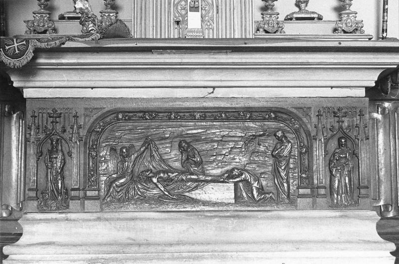 Autel, gradin d'autel, tabernacle (maître-autel), vue générale