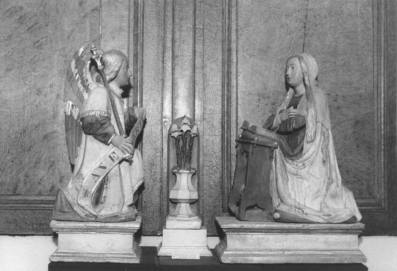 groupe sculpté : L'Annonciation, vue générale