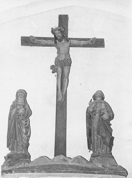 Groupe sculpté : La Crucifixion, vue générale