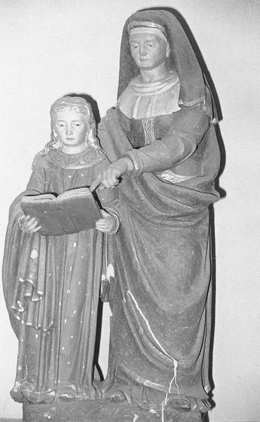 Groupe sculpté : L'Education de la Vierge, vue générale