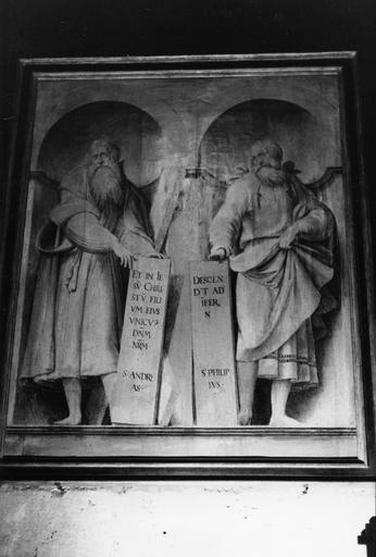 2 tableaux : Saint Jacques et Saint Matthieu, Saint André et Saint Philippe