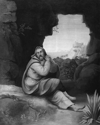 4 tableaux et leurs cadres : Scènes de la vie de saint Pierre