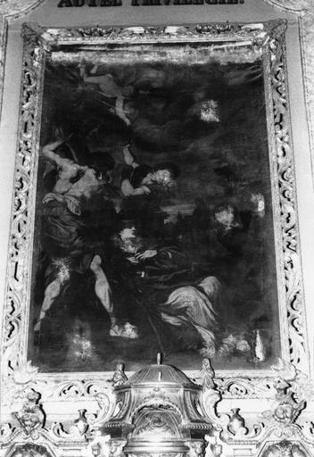 Autel, tabernacle, retable, tableau : La Lapidation de saint Etienne (maître-autel)