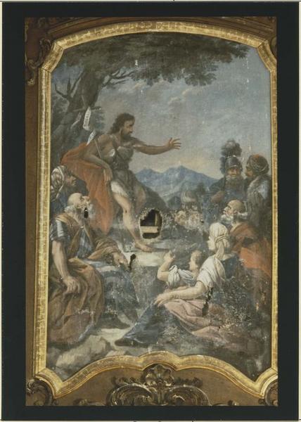 Tableau du maître-autel: saint Jean-Baptiste prêchant, vue générale