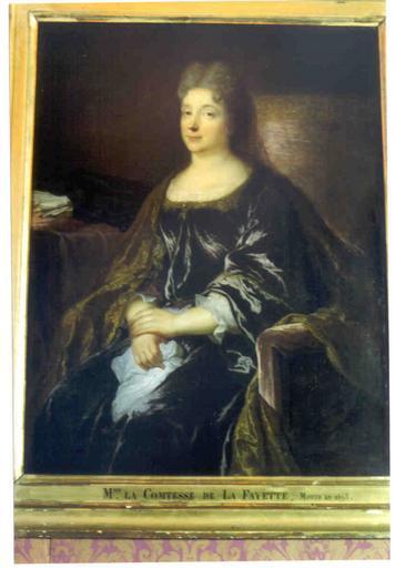 Tableau : portrait de Marie-Madeleine Pioche de la Vergne, comtesse de La Fayette