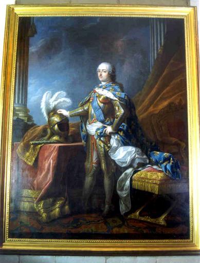 Tableau : portrait en armure de Louis XV