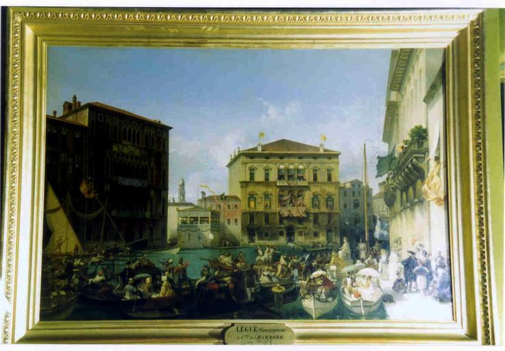 Tableau et cadre : régate vénitienne