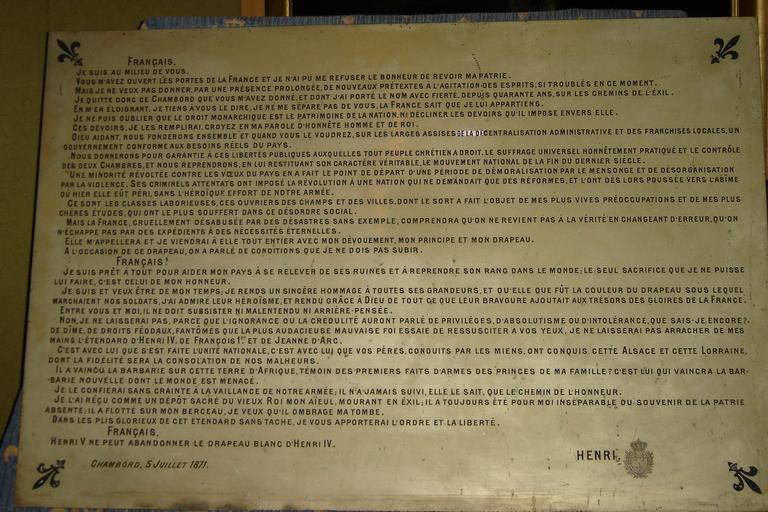 Manifeste de Chambord
