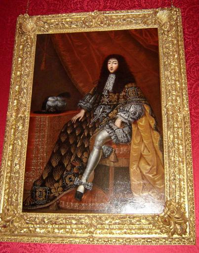 Tableau et cadre : portrait de Gaston d'Orléans en costume de l'Ordre du Saint Esprit