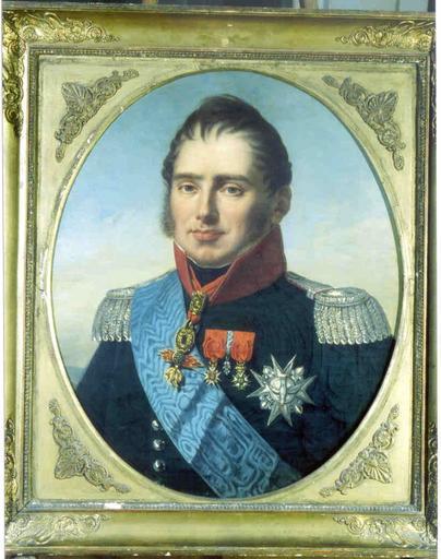 Tableau et cadre : portrait du duc de Berry