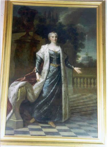 Tableau : portrait en pied de Catherine Opalinska