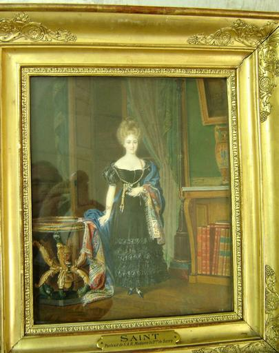 Tableau et cadre : portrait de la duchesse de Berry