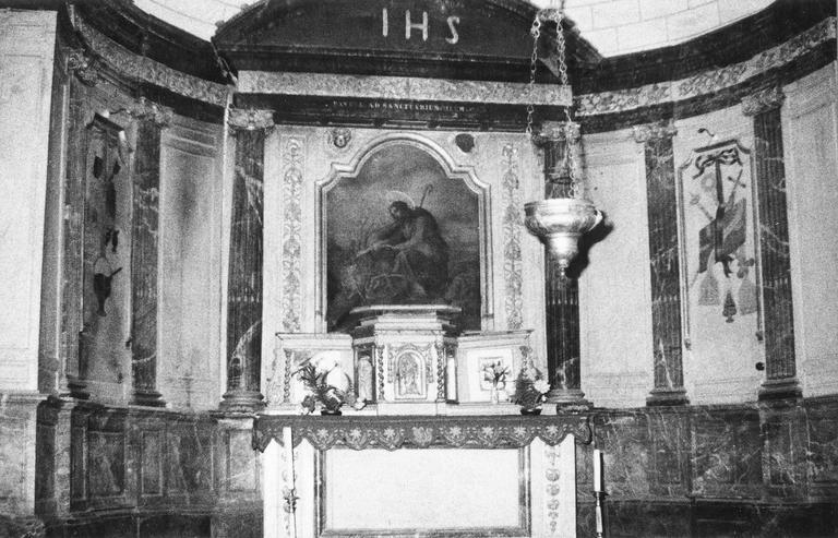 retable, tabernacle du maître-autel, tableau : saint ?