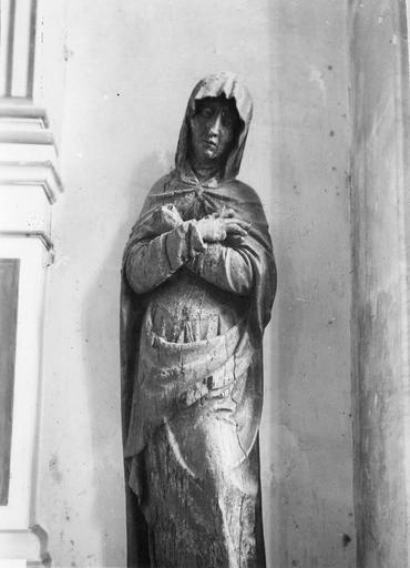2 statues : Vierge, saint Jean
