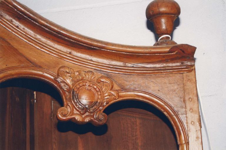 Confessionnal, bois sculpté, 18e siècle, détail