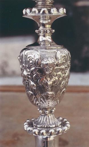Calice, détail du noeud, argent, 17e siècle