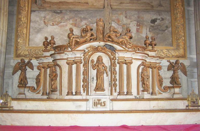 Détail du tabernacle du maître-autel, vue d'ensemble